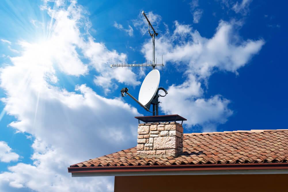 imagem do telhado de uma casa