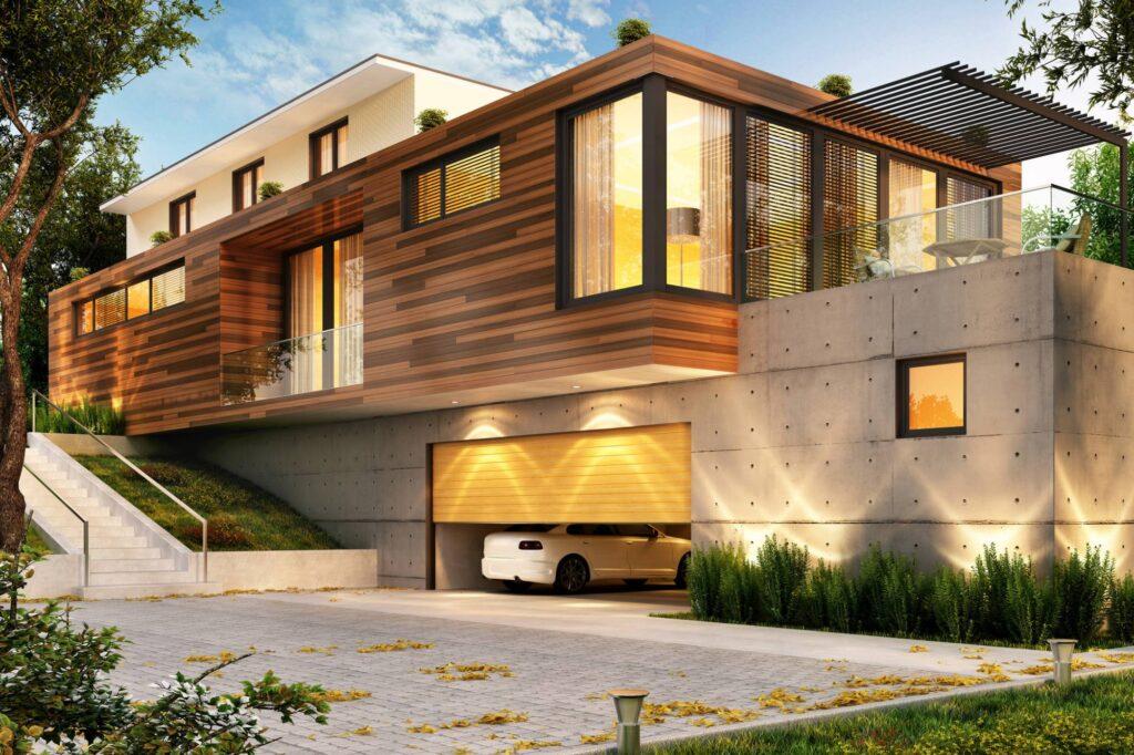 imagem 3D de uma casa moderna